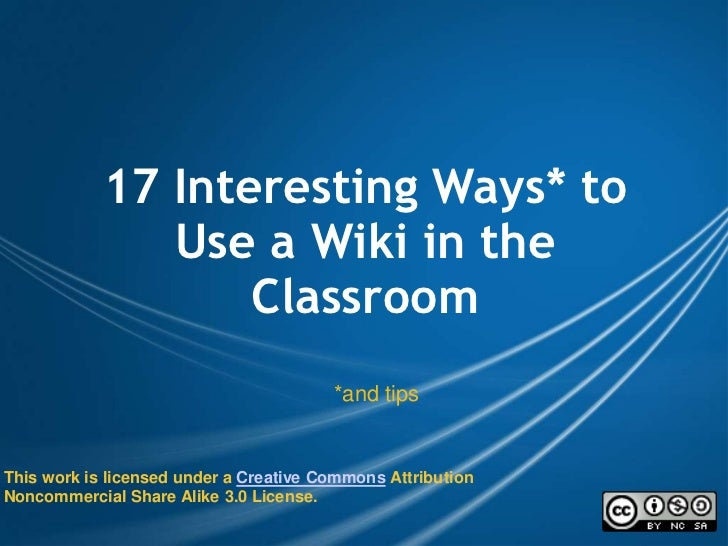 Wiki in the_class