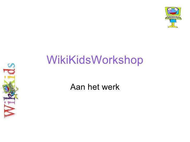 WikiKids Workshop