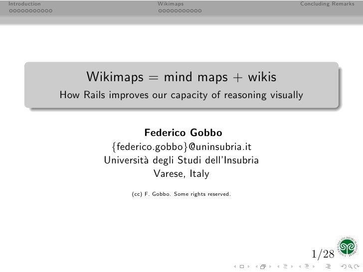 Introduction                           Wikimaps                      Concluding Remarks                         Wikimaps =...