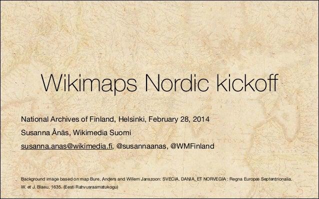 Wikimaps nordic kickoff Helsinki 28 February 2014