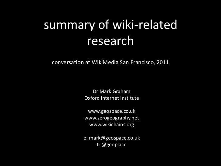 WikiMedia 2011 mark graham