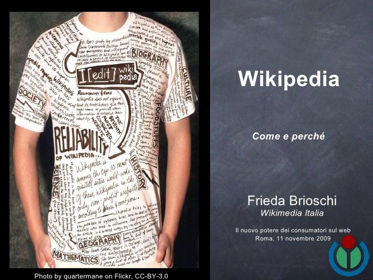 Wikipedia come e perché