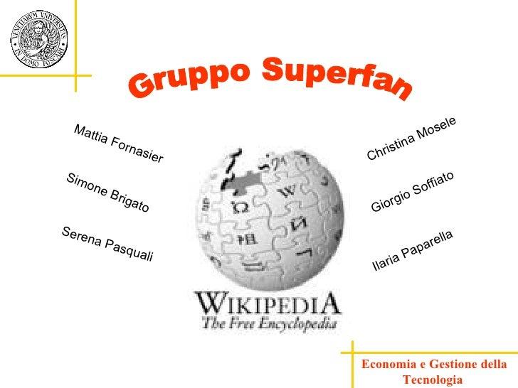 Economia e Gestione della Tecnologia  Christina Mosele Ilaria Paparella Giorgio Soffiato Serena Pasquali Simone Brigato Ma...