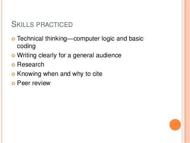Wiki critical thinking