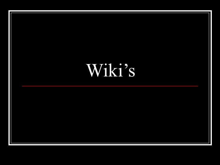 Wiki Presentation