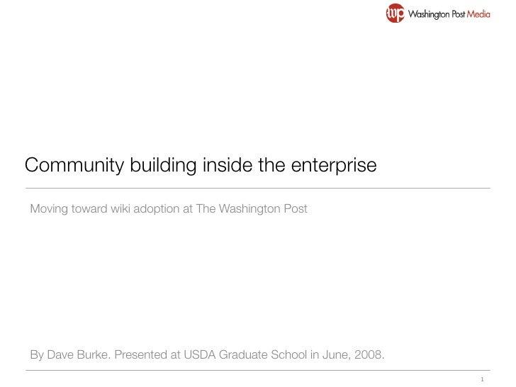 Building community inside the enterprise