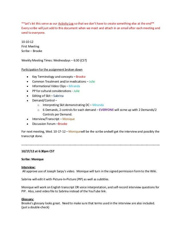 Wiki running log final