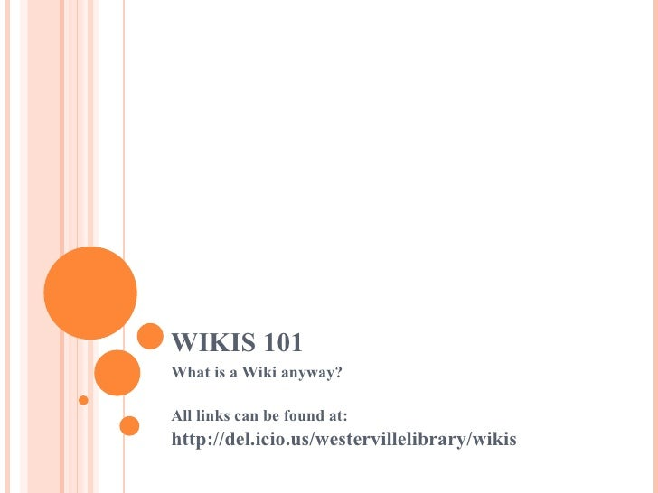 Wikis 101