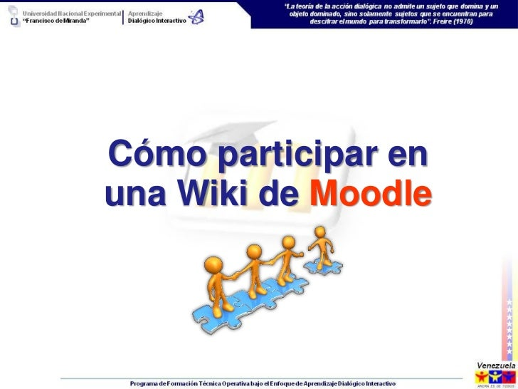 Cómo participar enuna Wiki de Moodle