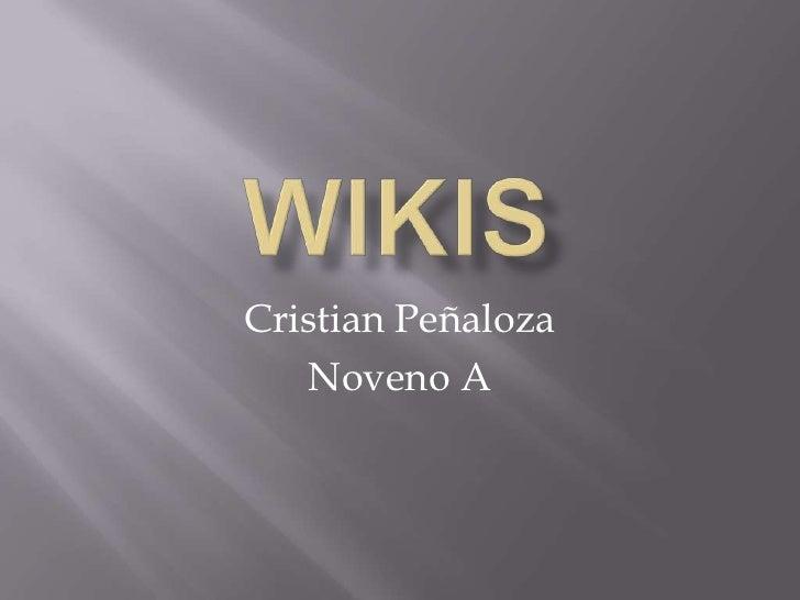 Cristian Peñaloza   Noveno A