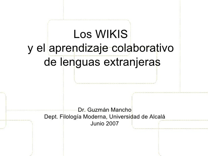 wikis and learning collaboratively ESP