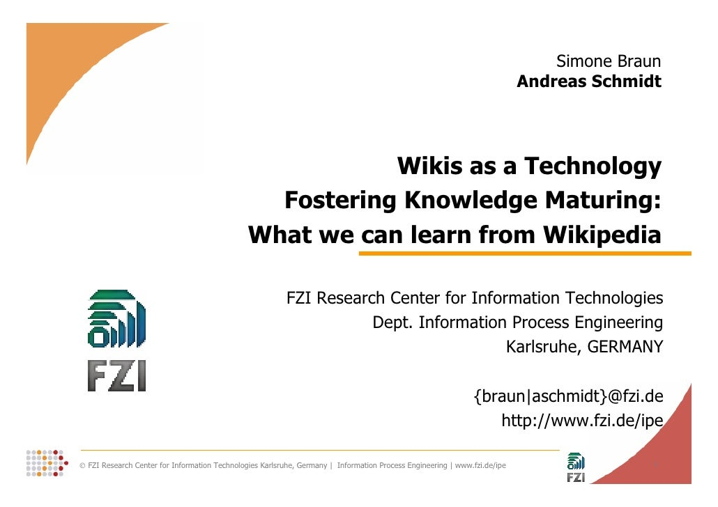 Wikis as a Technology Fostering Knowledge Maturing - What we can learn from Wikipedia