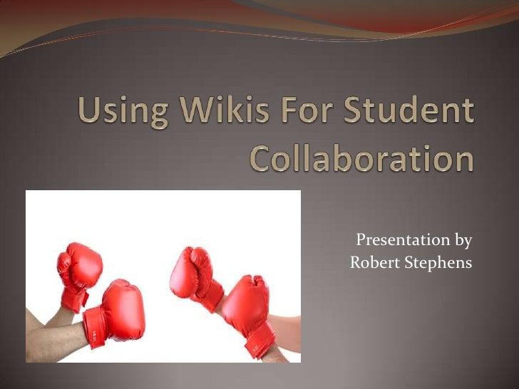 Wikis casestudie powerpoint