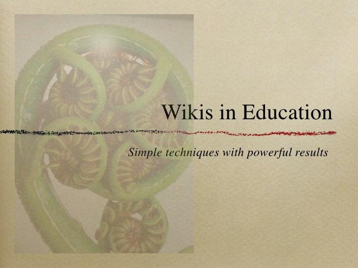 Wikisin Education