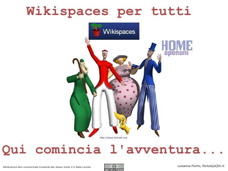 Wikispaces per tutti