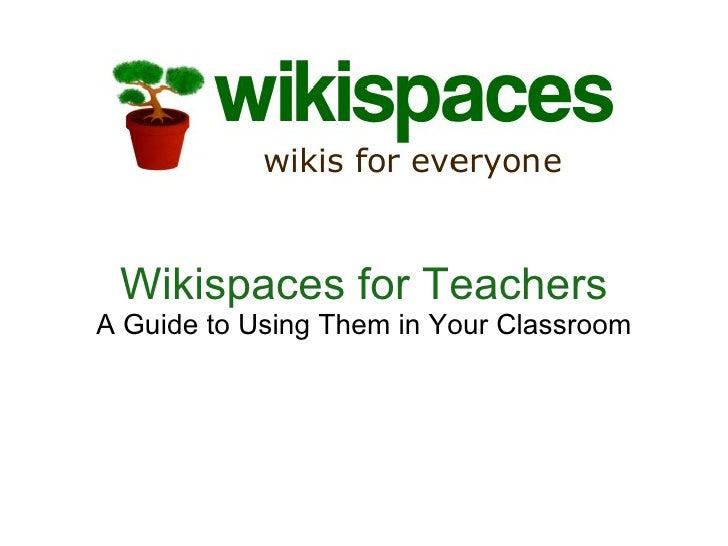 Wikispaces Teachers