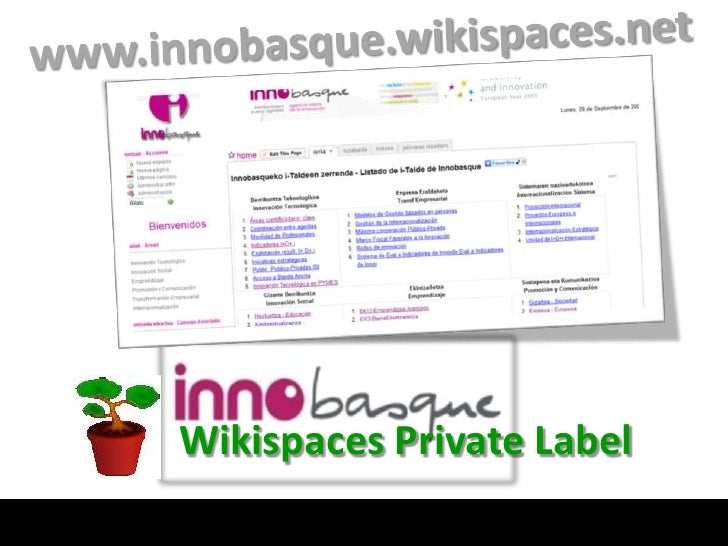 Innobasque and Wikispaces Private Label
