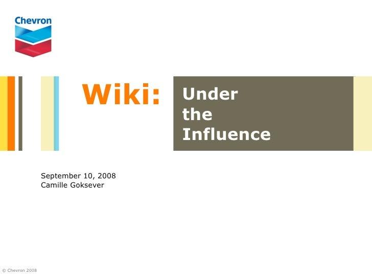 Wiki:       Under                                       the                                       Influence               ...