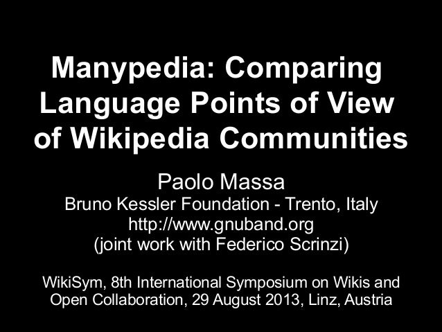 Manypedia: Comparing  Language Points of View  of Wikipedia Communities
