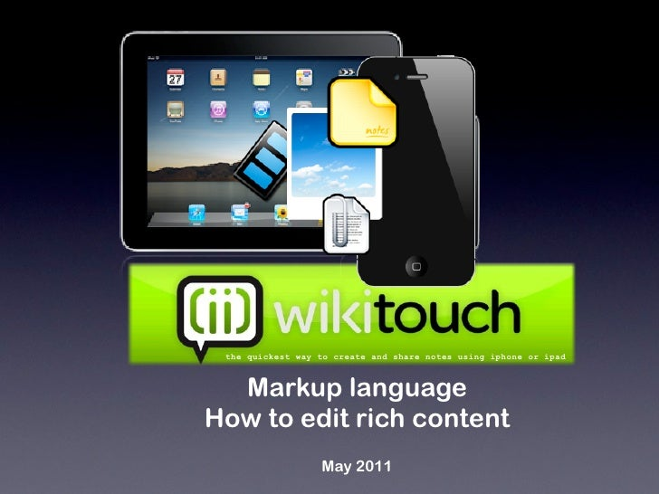 How to Edit Text with WikiTouch