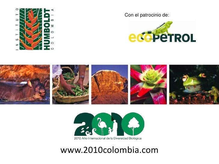 Con el patrocinio de:<br />www.2010colombia.com<br />