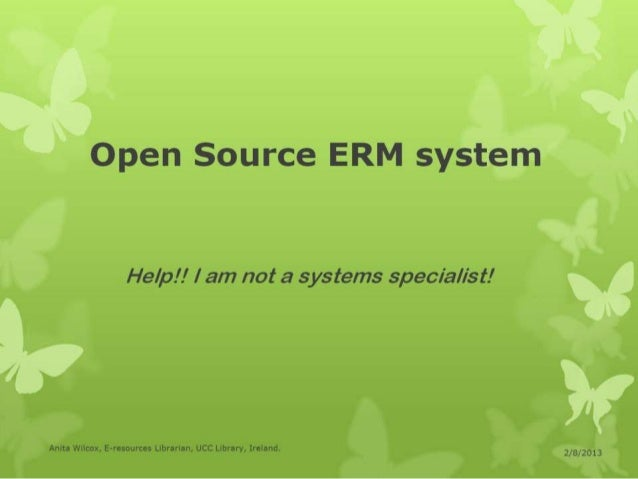 Wilcox open source erm system1