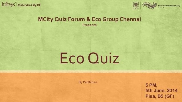 Eco Quiz 2014