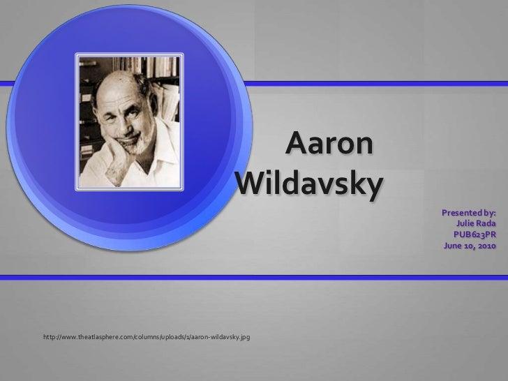 Aaron                                                            Wildavsky                                                ...