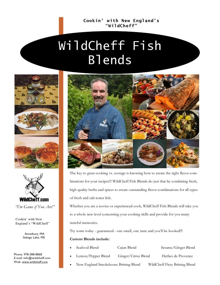 """Cookin' with New England's                                                 """"WildCheff""""                                   W..."""