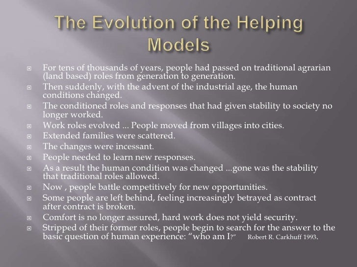    For tens of thousands of years, people had passed on traditional agrarian    (land based) roles from generation to gen...
