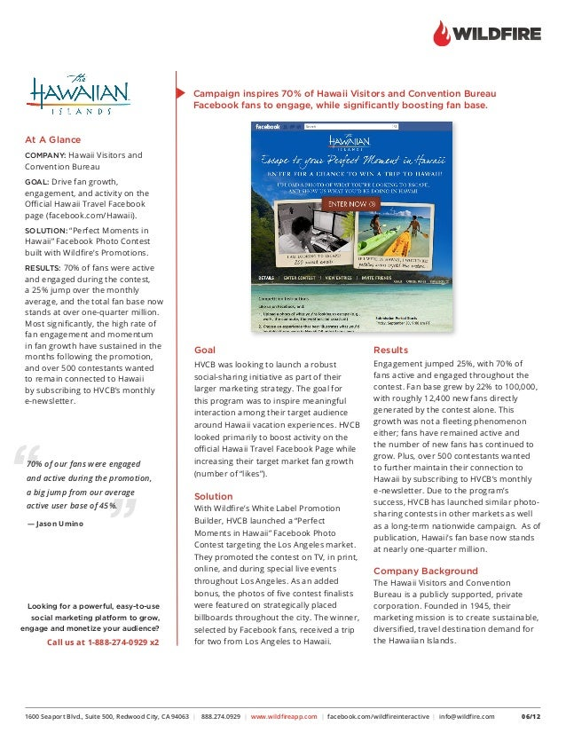 Hawaii Visitors and Convention Bureau: Successful Social Marketing for the Islands