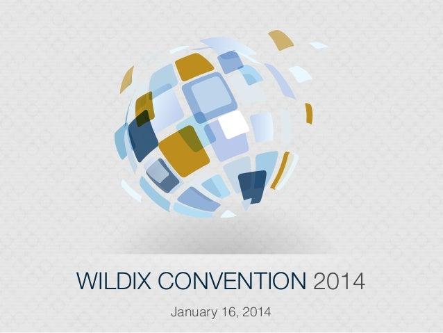 Wildix Convention 2014 presentation