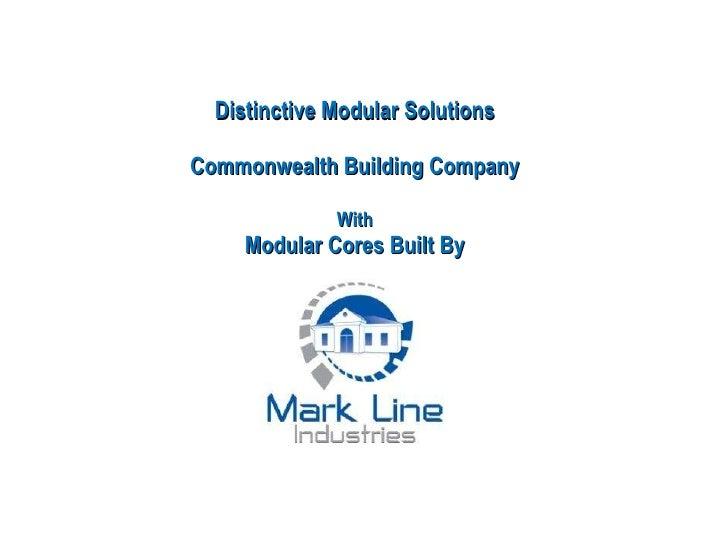 Commercial Modular Buildings Presentation | Mark Line Industries