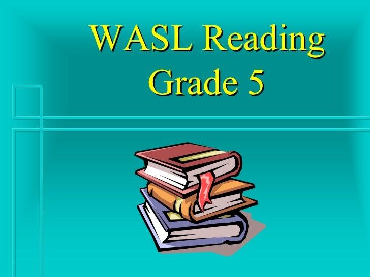 WASL Reading Grade 5