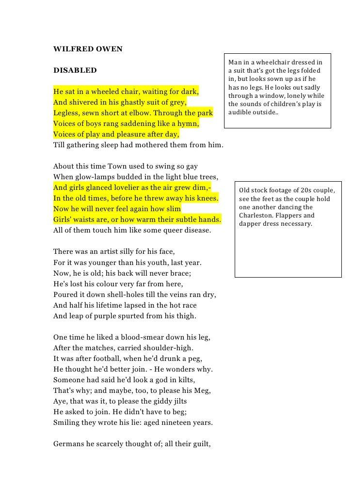Wilfred Owen Essay