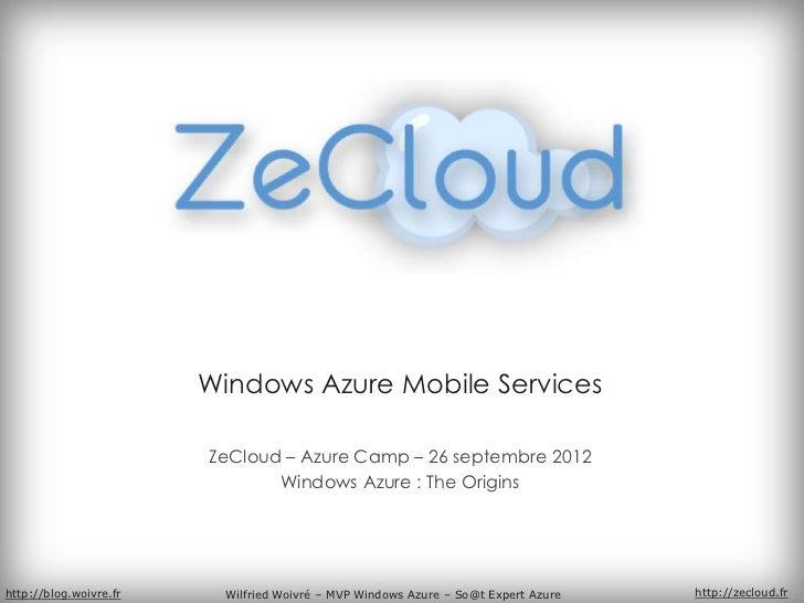 Wilfried woivré   windows azure mobile services