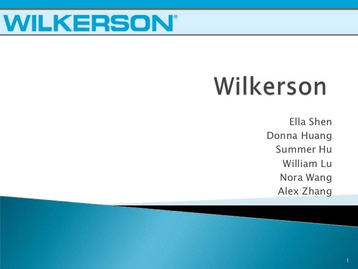 Wilkerson Company Case Study Analysis – 168484