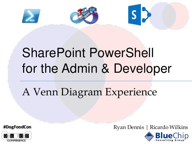 SharePoint PowerShell for the Admin & Developer A Venn Diagram Experience #DogFoodCon  Ryan Dennis | Ricardo Wilkins