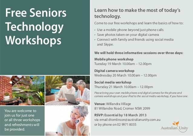 Free Seniors             Learn how to make the most of today's                         technology.Technology              ...