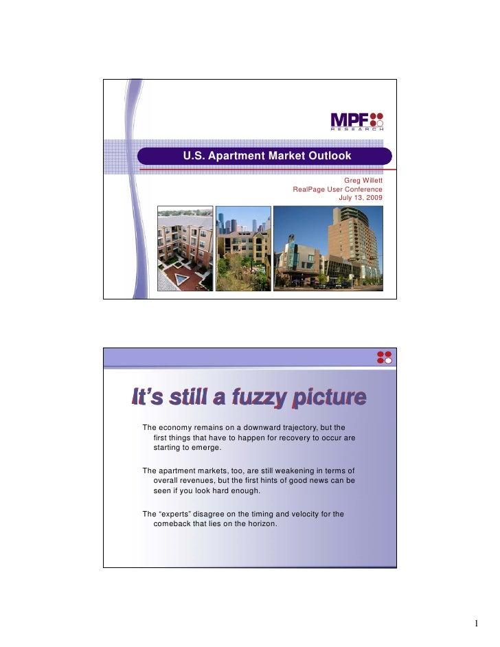 U.S. Apartment M k t O tl k             US A     t   t Market Outlook                                                     ...