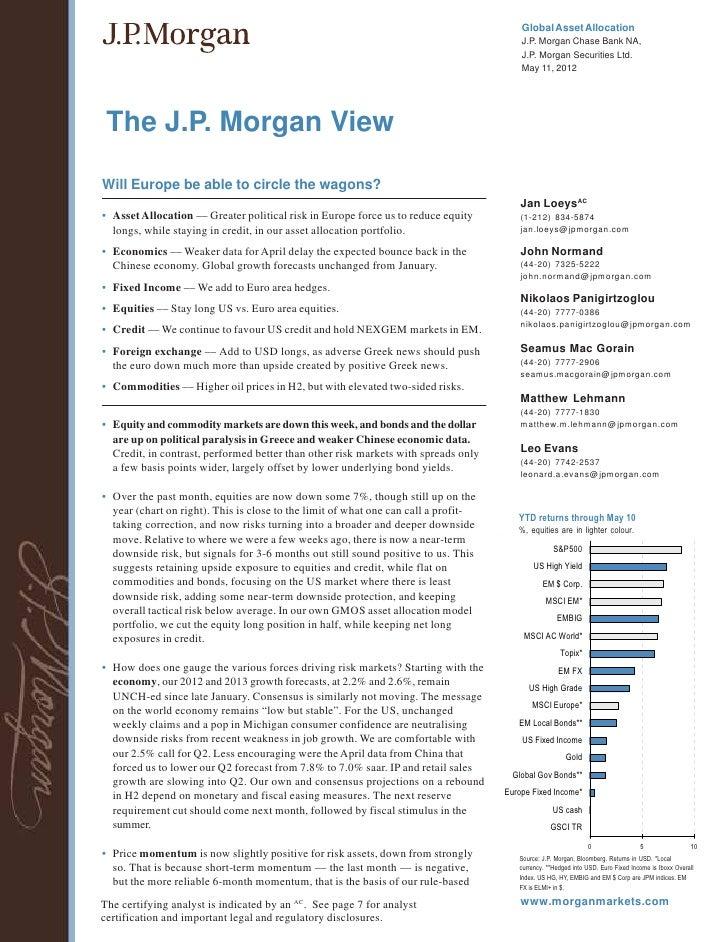 Global Asset Allocation                                                                                         J.P. Morga...