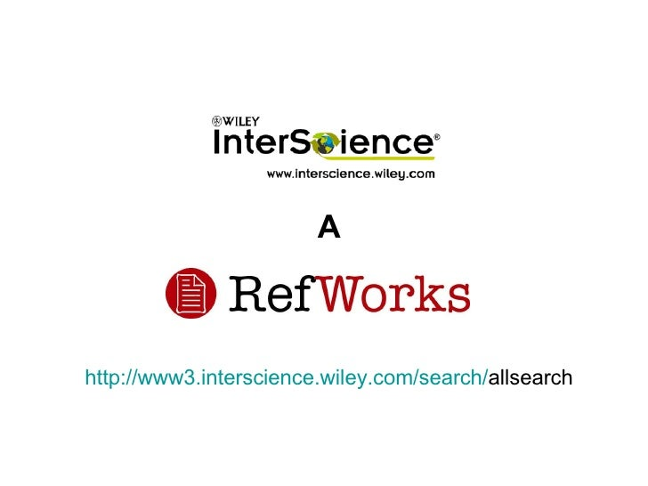 http://www3. interscience.wiley.com / search / allsearch A