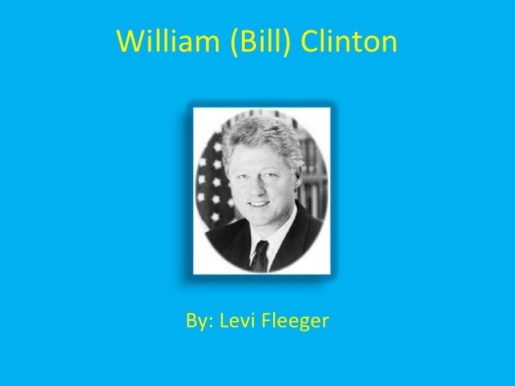 William (Bill) Clinton