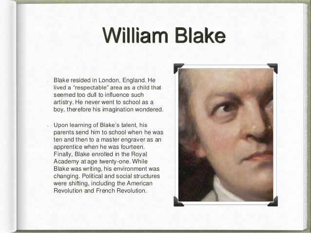 "william blake critical essay Essays and criticism on william blake, including the works america: a prophecy, the [first] book of urizen, milton: a poem, ""the tyger"" - magill's survey of world."