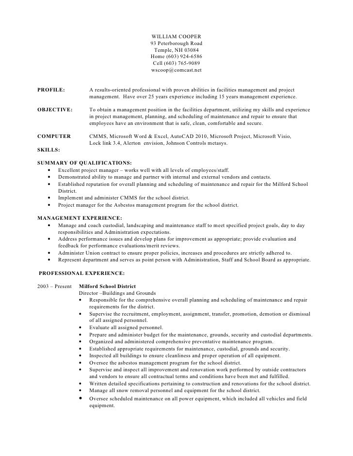 william cooper resume rev