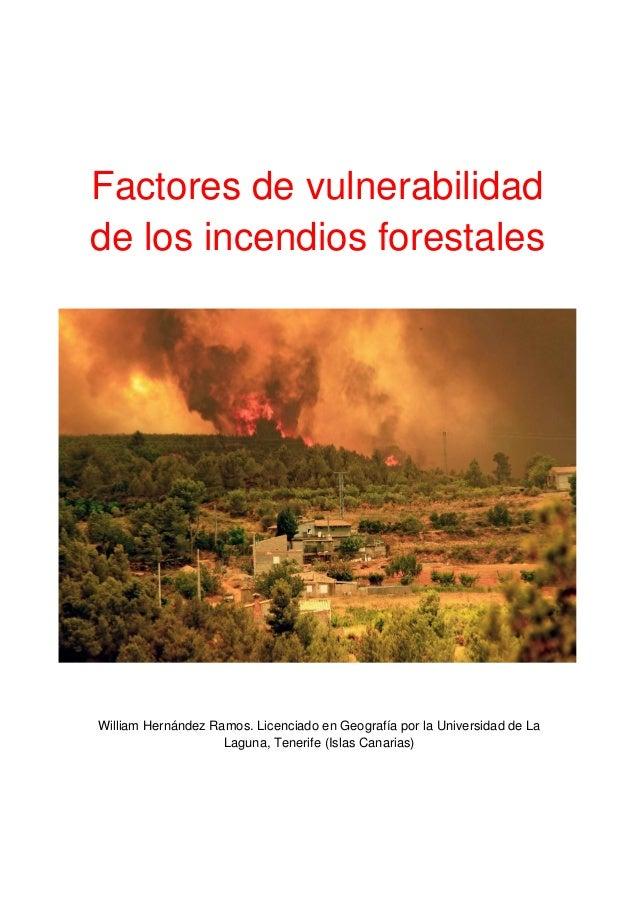 Trabajo Final de Master - Vulnerabilidad frente a incendios forestales