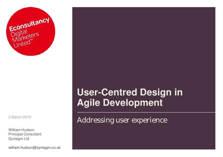 William Hudson Econsultancy Agile User centred design