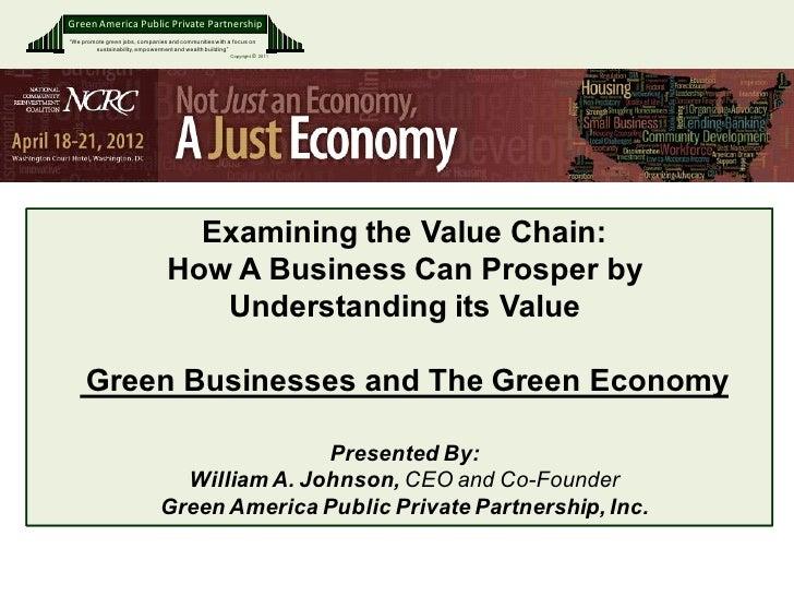 William Johnson | Examining the Value Chain