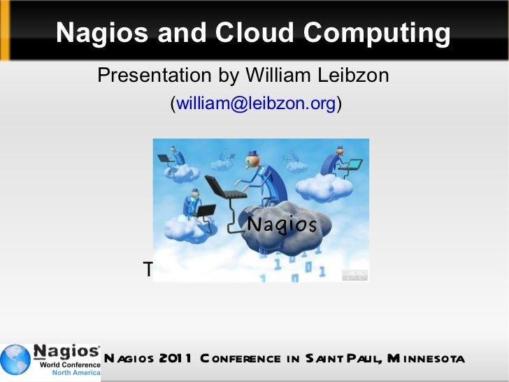 Nagios and Cloud Computing <ul>Presentation by William Leibzon   ( [email_address] ) Thanks for being here! </ul>Nagios <u...
