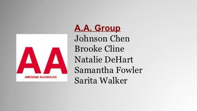 A.A. GroupJohnson ChenBrooke ClineNatalie DeHartSamantha FowlerSarita Walker